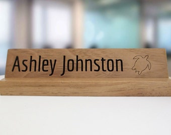 Solid Walnut Laser Engraved Name Plate