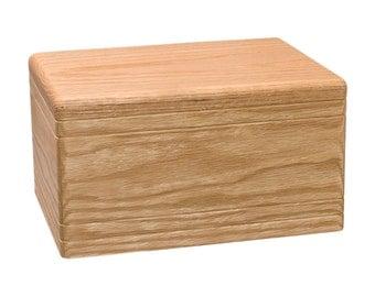 Oak Boxwood Companion Wood Cremation Urn