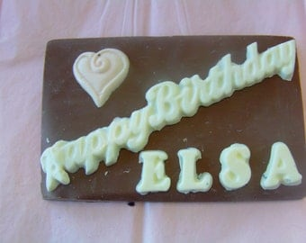 Personalized Candy Card-A One Of A Kind Gift for Birthdays, Anniversaries, Corporate Events in Your Choice of Flavors and Colors!
