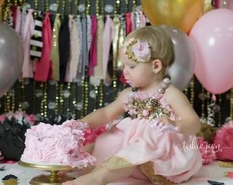 Pink and gold headband, gold and pink headband, pink headband, gold headband, pink and gold baby headband, newborn headband