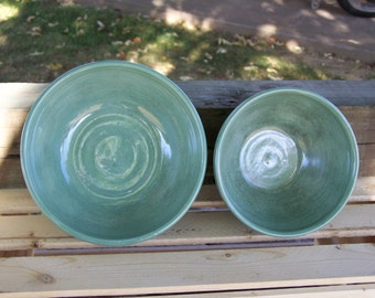 Hand made pottery bowl, hand made serving bowl and sauce bowl, glazed and fired to cone 6