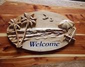 Beach Welcome Sign ~ Beac...