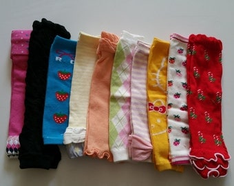 10 Pairs Baby Leg Warmers-Clearance-U.S. Free Shipping