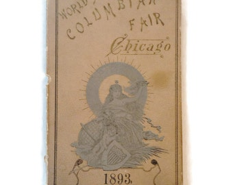 1893 Columbian Worlds Fair Chicago Fold Out Picture Book