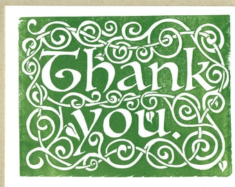 Celtic Thank You - Letterpress Card