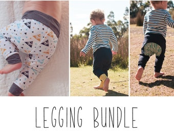 Legging PDF sewing pattern bundle - baby legging sewing patterns