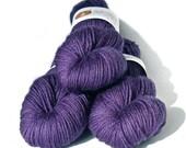 Hand dyed yarn BFL Aran 'Amethyst'