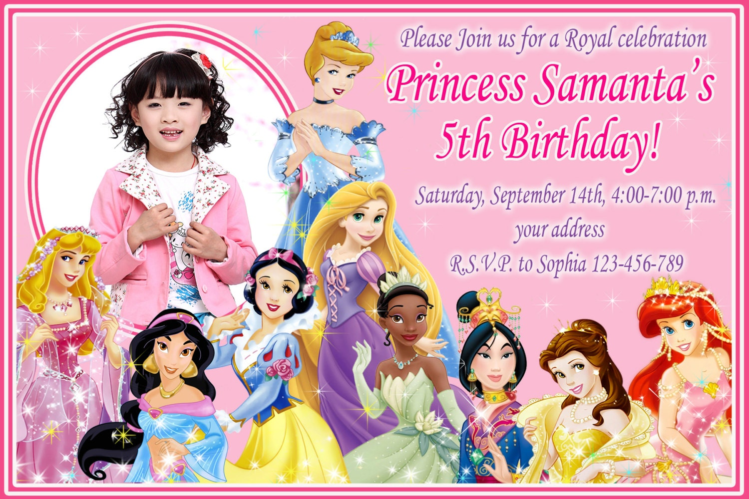 sale disney princess birthday invitation disney princess, Birthday invitations