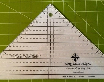 STRIP TUBE RULER       Full Size             By: Cozy Quilt Designs