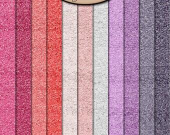 Digital Scrapbook: Paper, Glitter, BFF Glitter Paper Pack