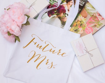 SALE Future Mrs. Tote Bag, Chic and Modern Bride to Be, Bride Bag, Tote, Gift for Bride to be,  Bridal Shower Gift, Bachelorette Party