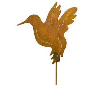 Hummingbird Metal Garden Stake, Yard Art GS29