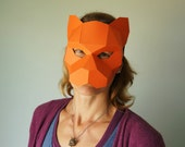 Tiger Half Mask - Make your own Mask from waste card