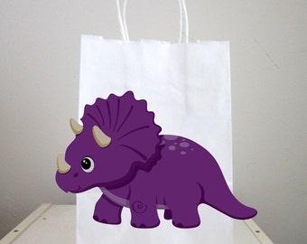Dinosaur Goody Bags, Dinosaur Favor Bags, Dinosaur Party Bags, Triceratops Dinosaur Goody Bags