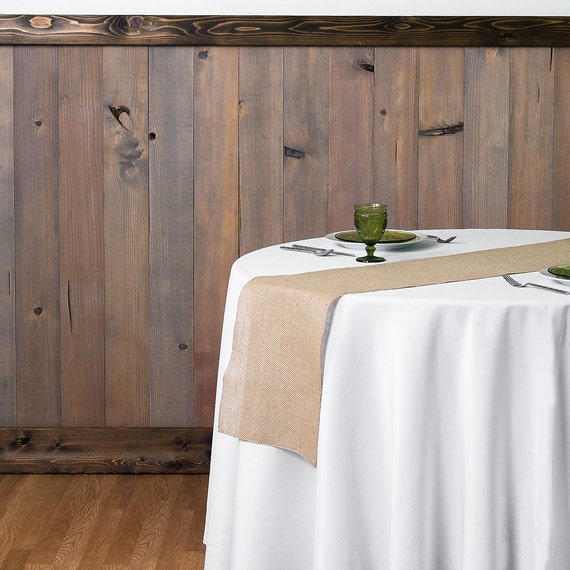 90 X 12 Inch Burlap Table Runners Fit 5ft Round