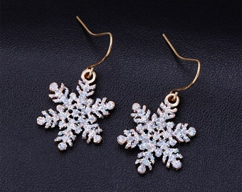 Christmas Snowflakes Earrings for Winter/Holidays