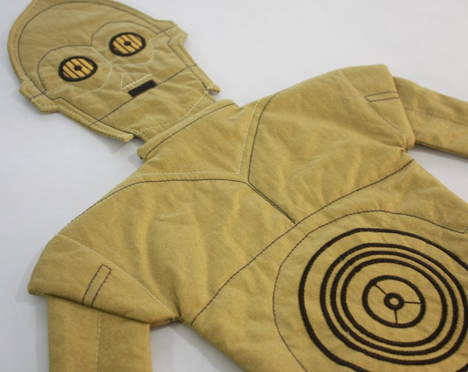 Star Wars baby blanket--C-3PO security blanket--C-3PO quilt buddy with optional toy bag