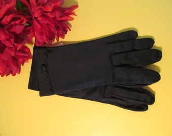 Vintage 1960's Fownes Ladies Gloves / NOS Navy Women's Dress Gloves / Size 6-7 Nylon Gloves / Vintage Accessories/ Vintage Clothing