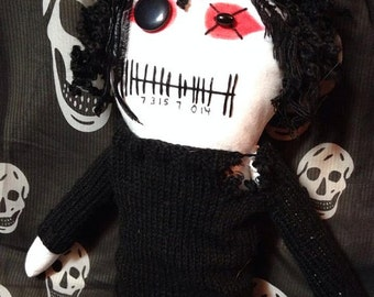 "Creepy n Cute Zombie Doll - ""OhGr"" - Inspired by Kevin Ogilvie-Nivek Ogre of Skinny Puppy (D&P)"