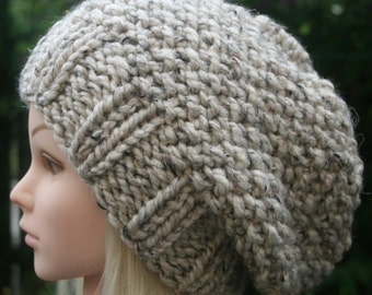 Slouchy Beanie hat Womens Hat Knit hat Chunky winter hat-  Available in different colors Women's Accessories