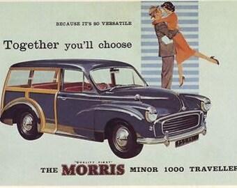 Vintage Morris Minor Van Advertising Poster A3 Reprint