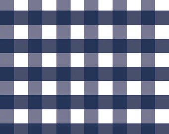 "Navy Gingham 1"", from Riley Blake Designs"