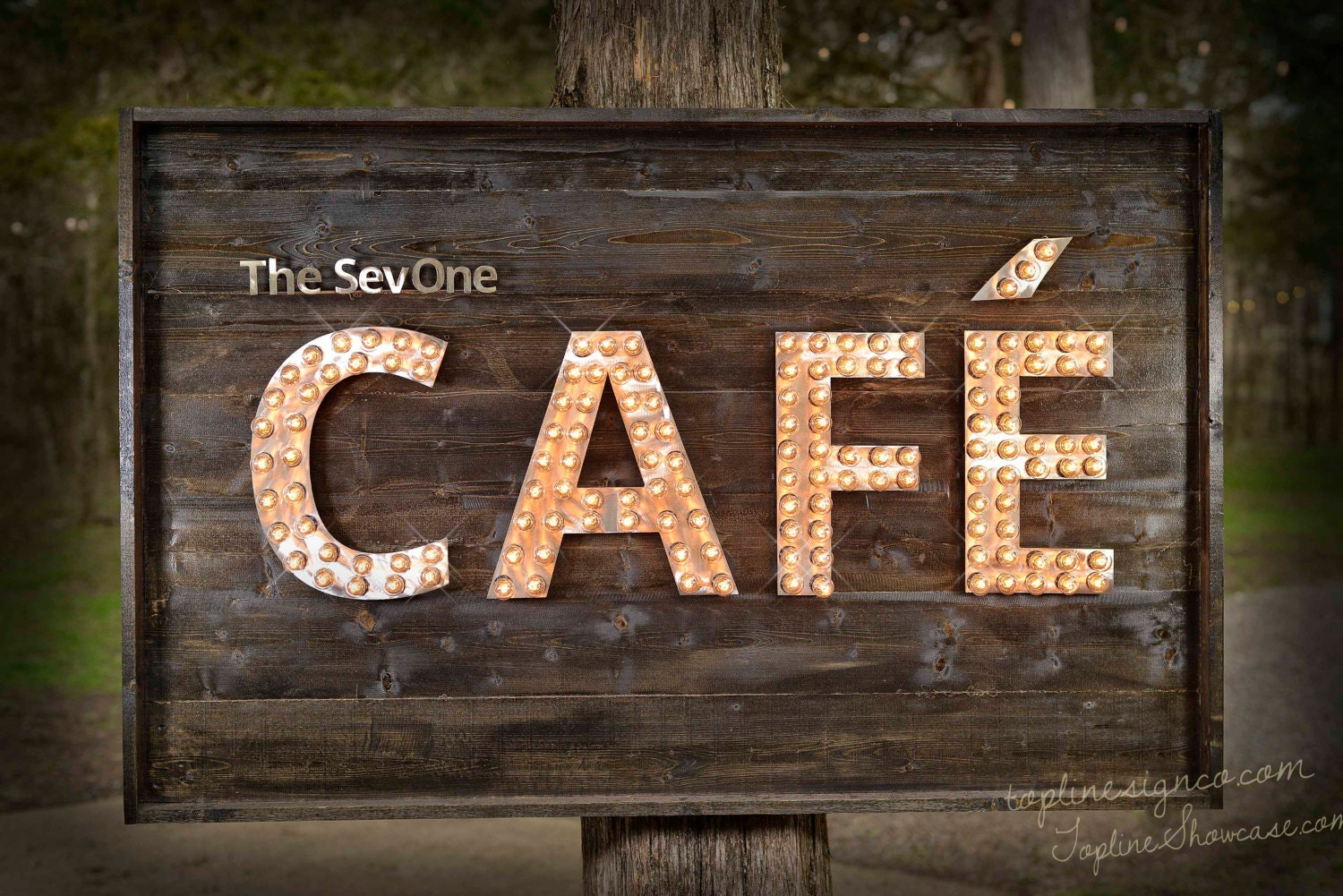Custom Cafe Marquee Sign Cafe Custom Signs Business Sign