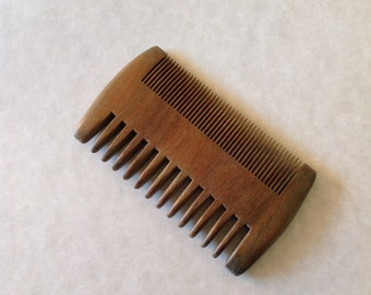 Organic Green Sandalwood Wide Tooth Fine Tooth Beard Comb Exotic Aromatic UB's Beard Basics