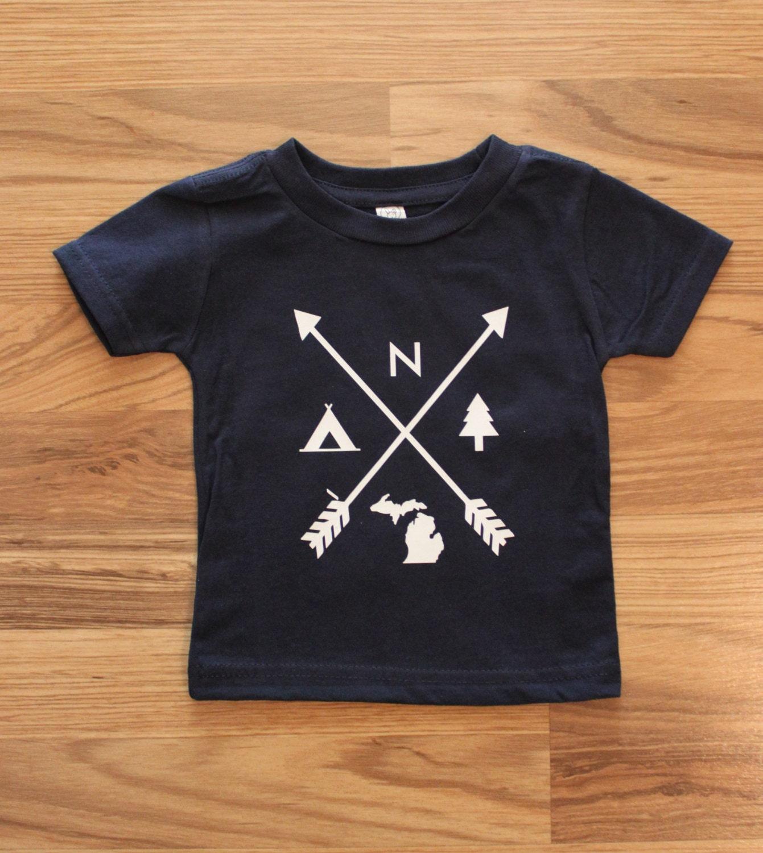 Michigan Camping T Shirt Hipster Toddler Tee Michigan Summer - photo#11