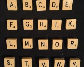 Scrabble letter brooch