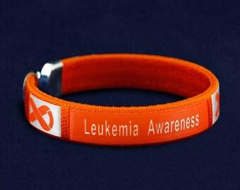 Leukemia Awareness Bangle Bracelet (Retail) (RE-B-22-5LK)