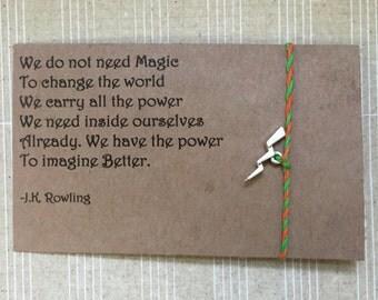 Harry Potter bracelet (lightning bolt)