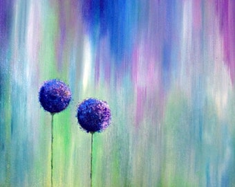Canvas Art Giclee Print Abstract Acrylic Painting Art Prints Landscape Floral Art PRINTS Purple Floral Wall Art Home Decor Prints Paintings