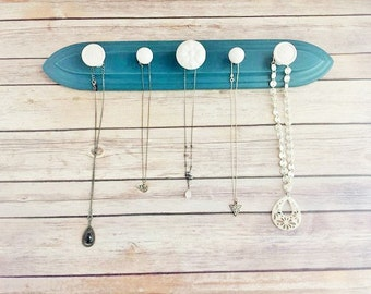 Jewelry Display Holder Teal Organizer Up Cycled Eco Friendly READY TO SHIP
