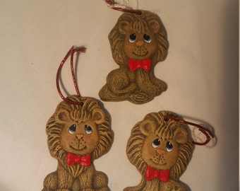 Hand-painted Baby Lion Ornaments