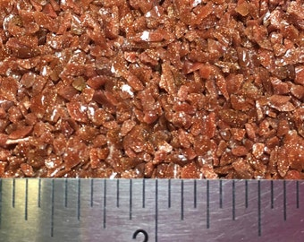 Red Goldstone - Lab Created - Large Sand