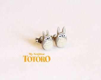 Studio Ghibli's My Neighbor Totoro Inspired Totoro Silver Stud Earrings