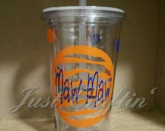Custom tiger stripe 16 oz tumbler