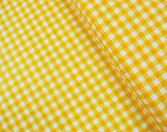Yellow Gingham - 1/4 inch stripes - Riley Blake Designs