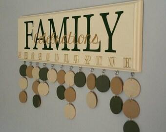 Family Birthday Board. Family CELEBRATIONS calendar.