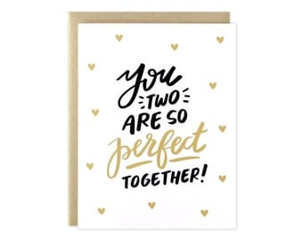 Wedding Card, Engagement Card, Perfect Together Card, Wedding, Engagement, Love Card, Friend Wedding Card, Favorite Couple Card, Watercolor