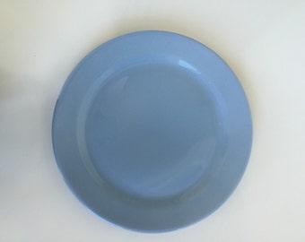 Vintage Lu-Ray Chop Plate Platter Blue