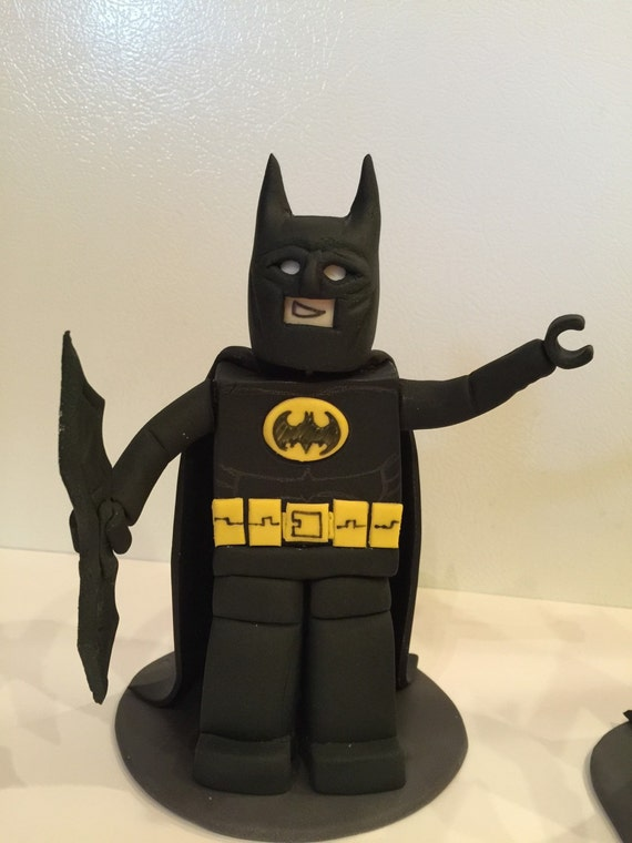 lego batman cake topper lego style batman fondant sugar edible cake topper 6 5453