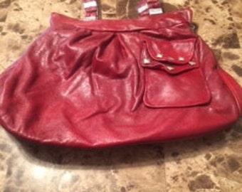 Soosh red leather handbag