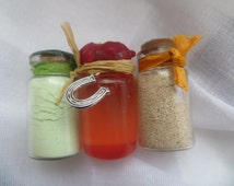 Set of three,  business lucky oil and powders, money, luck in business  , abundance, prosperity,