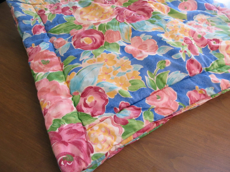 Vintage Shabby Chic Pillow Shams : Vintage Pair QUILT Floral Pillow Shams Cottage Shabby Chic