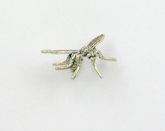Sterling Silver 3-D Mosquito Charm