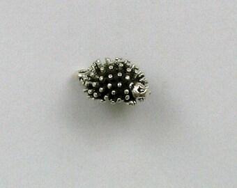 Sterling Silver 3-D 10mm Hedgehog Charm