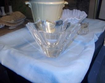 Vintage Orrefors Glass Bowl, Signed, Made in Sweden, WAS 80.00 - 50% = 40.00