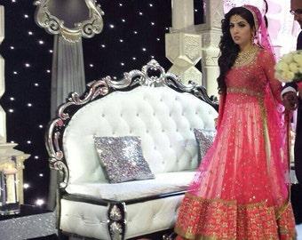 Bridal Fuschia Pink Anarkali Lehenga Set